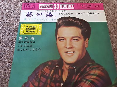 "Elvis Presley - 'Follow That Dream' Japan 7"" EP Compact 33 Lyric Picture Insert"