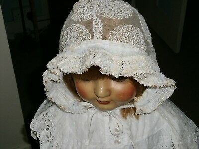 Pretty Victorian Baby/toddler Lace Bonnet 'rare'