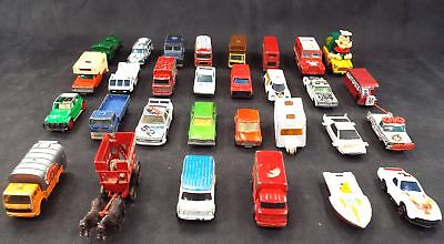 Collection of VINTAGE TOY CARS Majorette Corgi Matchbox Hotwheels TV/Film - N33