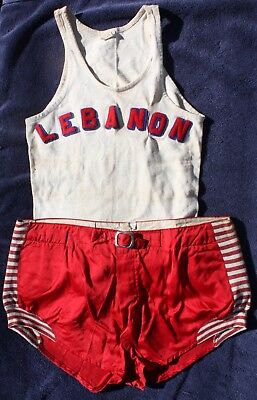 Vintage Circa 1940s LEBANON Pennsylvania Basketball Uniform