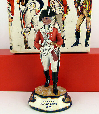 CHAS C STADDEN 90mm STUDIO PAINTED 1775 ROYAL MARINES CORPS OFFICER ( BOXED