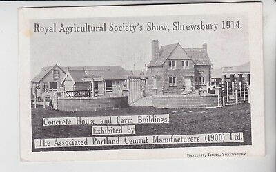 Gb Stamps 1914 Postcard From Shrewsbury From Royal Show Collection