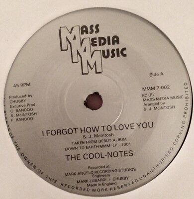 """Cool-Notes - I Forgot How To Love You ( 7"""" - 1981 )"""