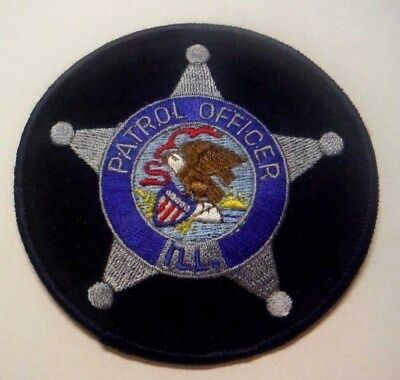 "State Of Illinois Patrol Officer 3.5"" Patch Unused"