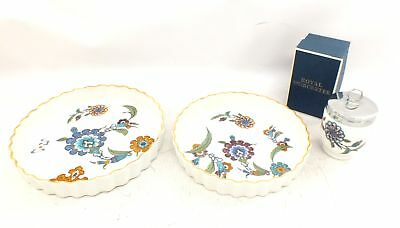 "3 x Pieces Of ROYAL WORCESTER ""Palmyra"" Dishes & Egg Coddler - A29"