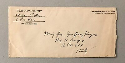General George S. Patton Jr Signed Handwritten Envelope AUTO Autograph JSA LOA