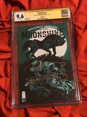 Cgc Ss 9.6~Moonshine #1~Variant Edition~Signed By Frank Miller+Brian Azzarello~P