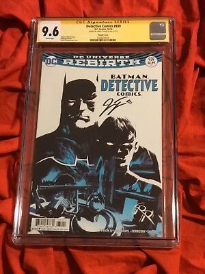 Cgc Ss 9.6~Detective Comics #939~Batman & Robin Variant~Signed James Tynion Iv~G