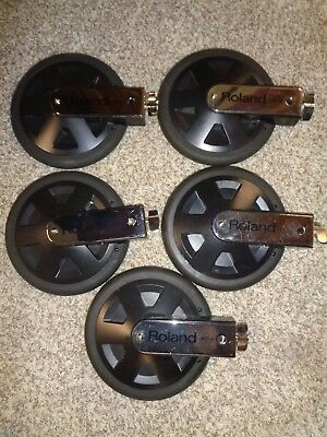 5 Roland PD-8  Electronic Drum Pads