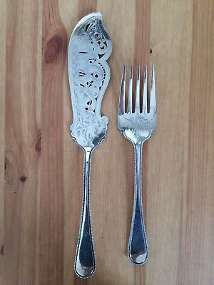 Silver Plated Floral Design Fish Servers