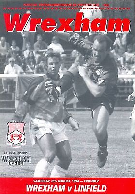 WREXHAM v LINFIELD (N Ireland) Pre season friendly 6 August 1994