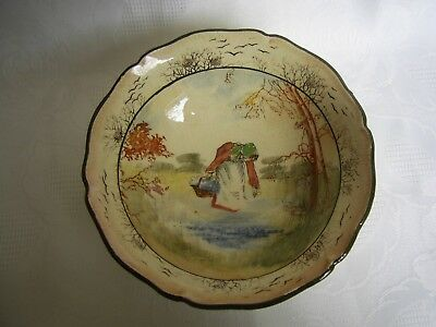 """Antique Royal Doulton Series Ware Bowl """"bluebell Gatherers"""" D3812- Rare."""