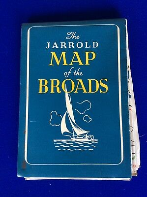 The Jarrold - Map of the Broads - 1950s