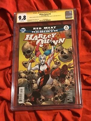 Cgc Ss 9.8~Harley Quinn #18~Signed By Amanda Conner+Palmiotti+Linsner+Timms~V7