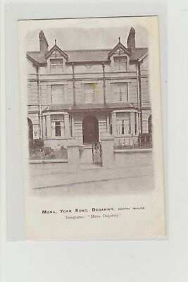 "Deganwy York Road ""Mona"" Hotel/Guest House Postcard Unposted c1905/10s"