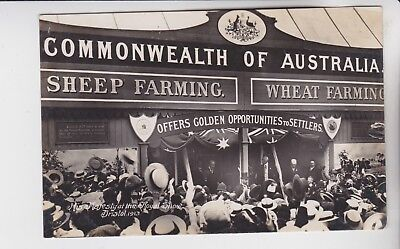Gb Stamps 1913 Bristol Australia Settlers Postcard From Royal Show Collection