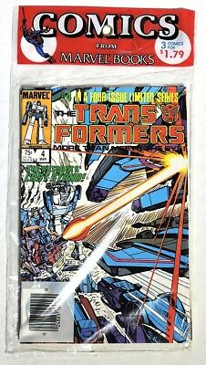 S668. THE TRANSFORMERS #4-6 by Marvel Comics (1985) SEALED ORIGINAL 3-PACK ~