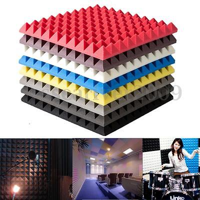 Acoustic Soundproof Sound Stop Absorption Pyramid Studio Foam Board Wall Decor