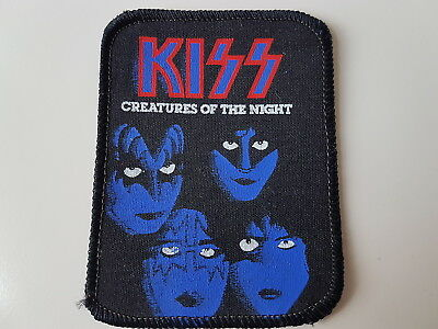 Kiss Vintage Printed Patch Creatures Of The Night Heavy Metal Rock