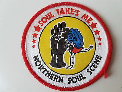 Northern Soul Scene Vintage Printed Patch Soul Takes Me