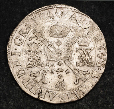 1612, Spanish Netherlands, Albert & Isabella. Silver Patagon (Thaler) Coin. XF!