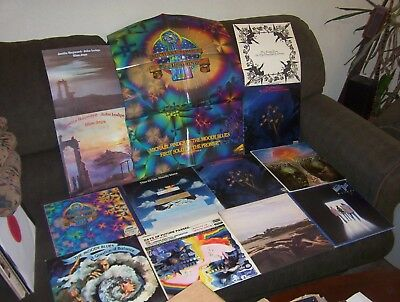 "THE MOODY BLUES 10 LP LOT w ""DAYS OF FUTURE PASSED, IN SEARCH OF THE LOST CHORD"