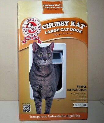 """New CHUBBY KAT Large Cat Door by Ideal 7 1/2 x 10 1/2"""" up to 25 lbs"""