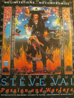 Steve Vai, Passion and Warfare, Full Page Promotional Ad