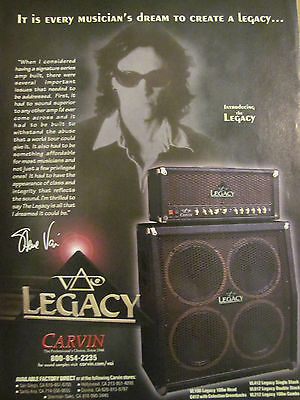 Steve Vai, Carvin Amplifiers, Full Page Promotional Ad
