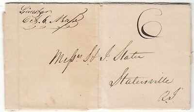 1838 Leicester Ma Stampless Folded Letter - To Slatersville Ri