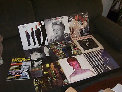 DAVID BOWIE 9 LP & EP LOT w ZIGGY STARDUST, HEROES, ALADDIN SANE, TIN MACHINE
