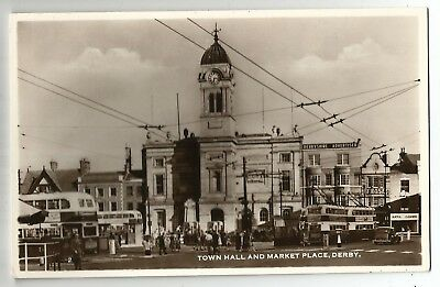 vb england Derbyshire postcard english market place derby