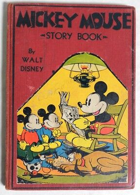 P080 Vintage: Disney Productions MICKEY MOUSE STORY BOOK David McKay (1931)[