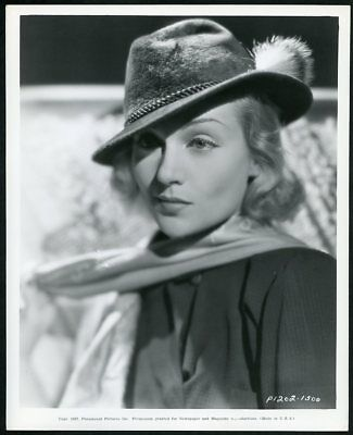 CAROLE LOMBARD BEAUTIFUL in a FEDORA Original Vtg 1937 PARAMOUNT PORTRAIT Photo