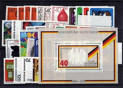 Germany 1974 Complete Year Mnh