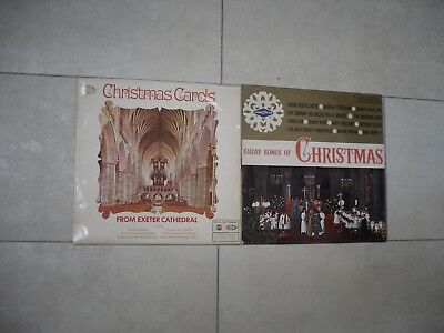 2 Vintage Christmas LP's -Carols From Exeter Cathedral &Great Songs Of Christmas
