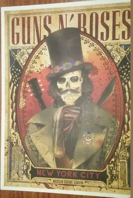 Guns N Roses Madison Square Garden Msg Event Nyc New York Slash Poster # 104/300