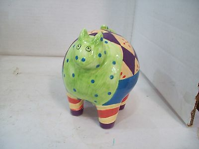 Milson & Lewis Hand Painted Cat Bank, Free Shipping