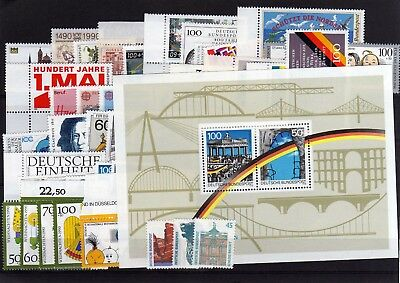 Germany 1990 Complete Year Mnh