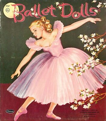 Vintage 1957 Ballet Dancers Paper Dolls Laser Reproduction~Uncut Lo Pr No.1 Sell