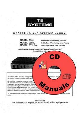 TE Systems 6 Meter Amplifier CD Manual + Schematics & Parts List, 0552, G, RA