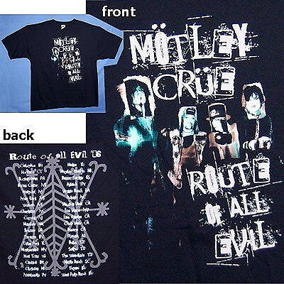 Motley Crue! Route Of All Evil Tour 2006 Heads Img T-Shirt Small New Official