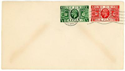 GB 1935 Silver Jubilee 1/2d and 1d on FDC with WINDSOR Slogan Postmark