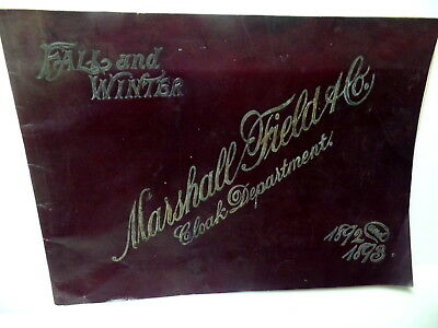 "Antique Marshall Field Co ""cloak Department"" Catalog 1892&93 Chicago Illinois Il"