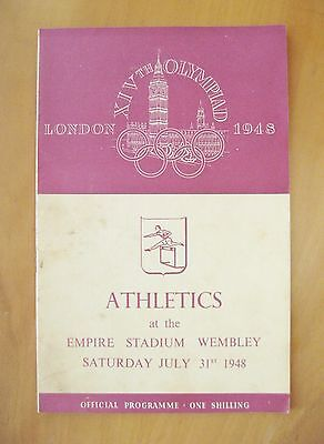 1948 London Olympics Athletics Programme 31st July Inc Javelin Long Jump Hammer
