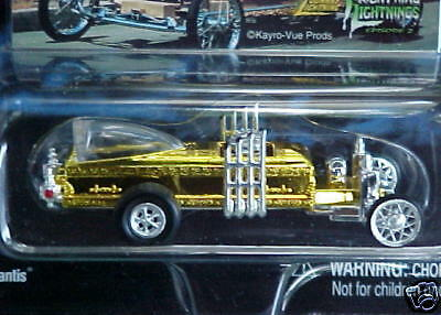 RARE Munsters Dragula Coffin Car Gold Chrome Chase Mail-in Promo George Barris