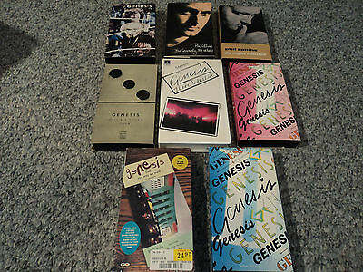 (8) VHS music tape lot-GENESIS AND PHIL COLLINS     FREE SHIPPING!!!