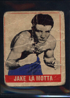 1948 Leaf #102 Jake LaMotta Rookie HOF Boxing (Poor) *658961
