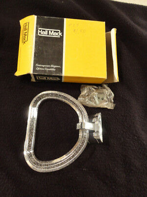 Vintage Hall Mack Towel Ring In Box Stardust Lucite Ring Great Specks Retro Mid