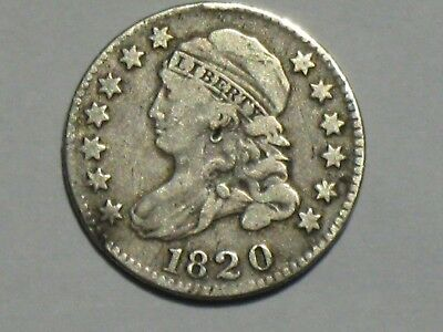 1820 10C Large 0 Capped Bust Dime